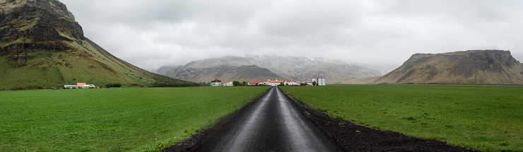 panorama of view of the volcano Eyjafjallajokull