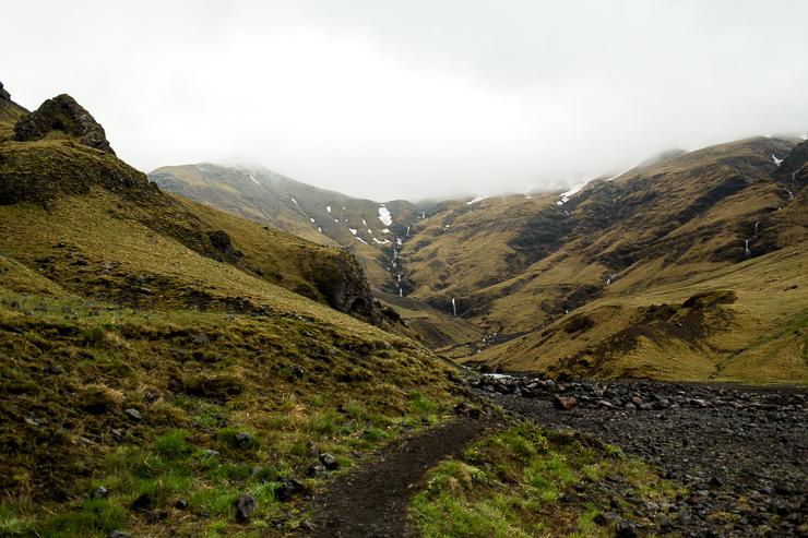 hiking to Seljavallalaug 1923 geothermal pool, Iceland