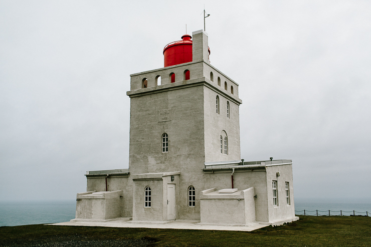 lighthouse, Dyrhólaeyjarviti in south Iceland