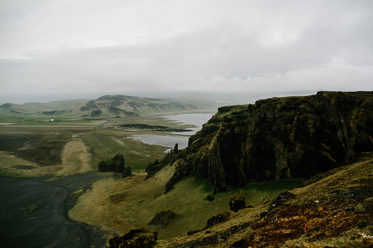 View from the top of Dyrhólaey in South Iceland
