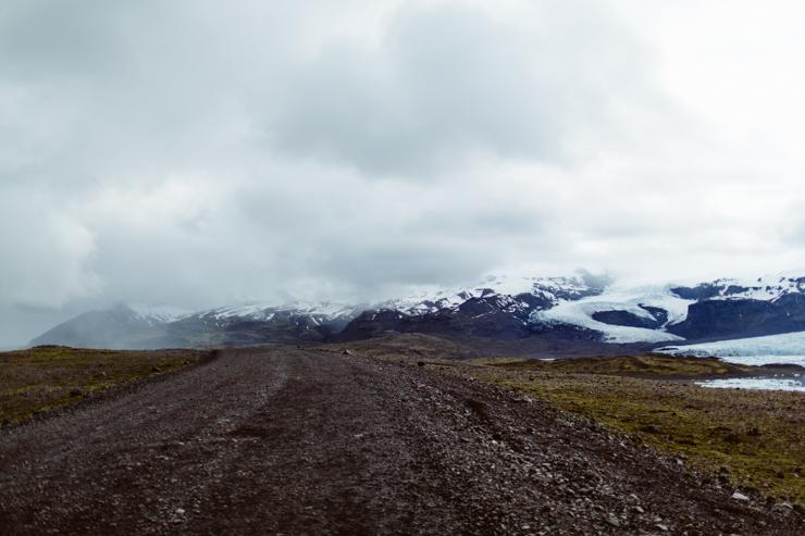 Fjallsárlón glacier lagoon road