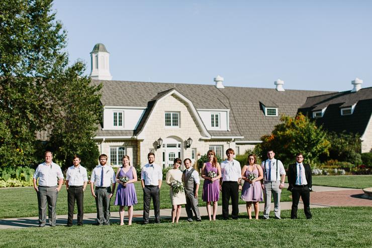 Bridal Party Outdoor Garden Wedding