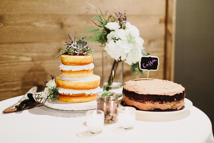 Naked Two Layer Wedding Cake