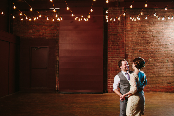 Bride and Groom's First Dance at their Wedding Reception Kansas City