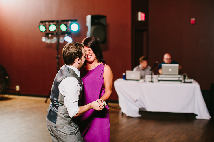 Mother son dance at wedding reception in Kansas City