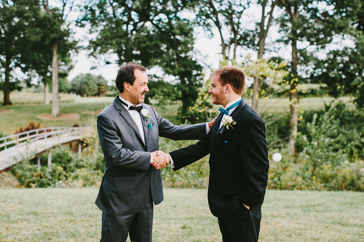 Groom and his father at Kickapoo Creek Winery, Edwards, IL