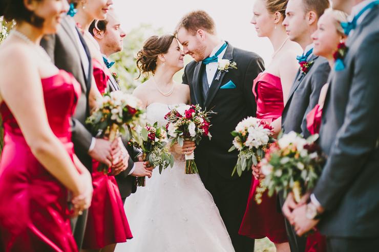 Bridal Party at outdoor ceremony Kickapoo Creek Winery, Edwards, IL