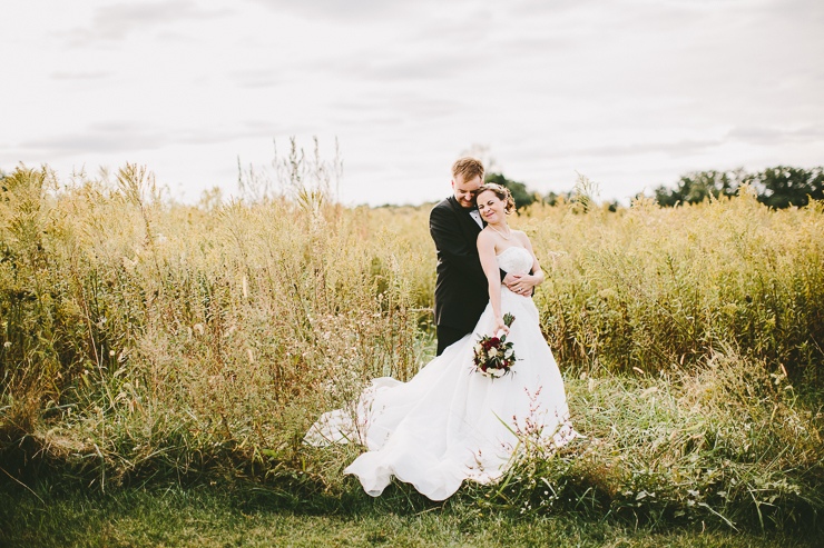 Bride and Groom portraits at outdoor ceremony Kickapoo Creek Winery, Edwards, IL