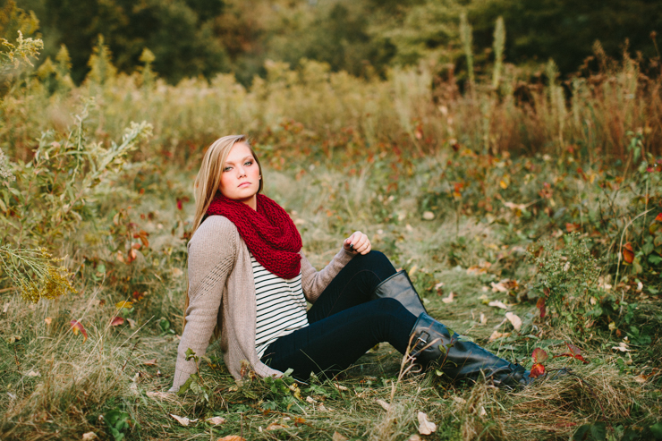 outdoor senior photography session
