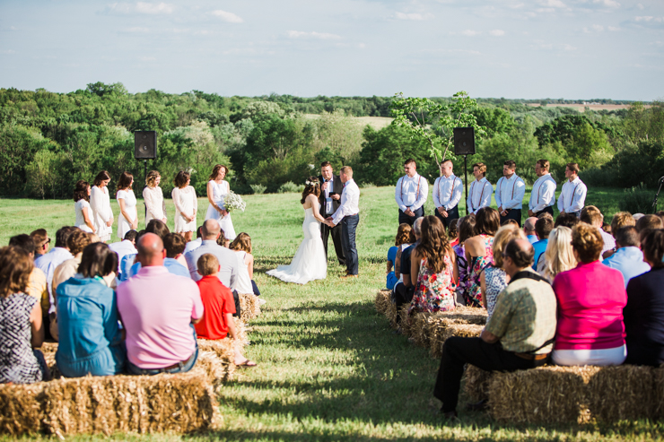 Outdoor rustic boho countryside wedding