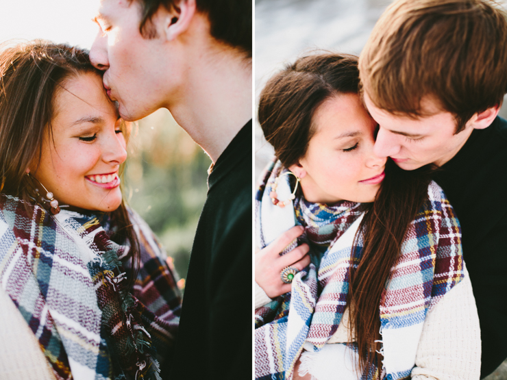 Romantic and Intimate Midwest engagement photography