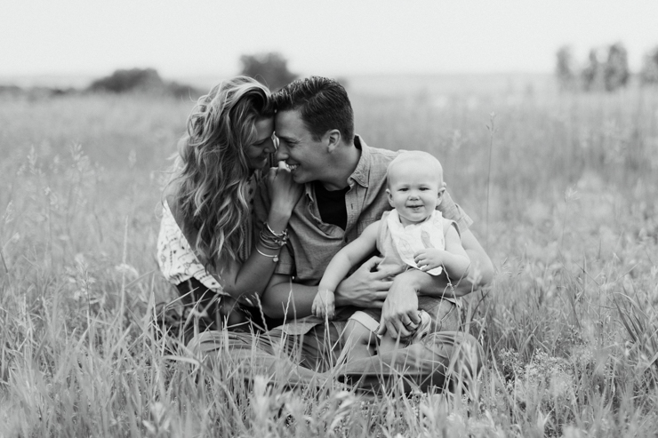 Colorado Family Photography in a field