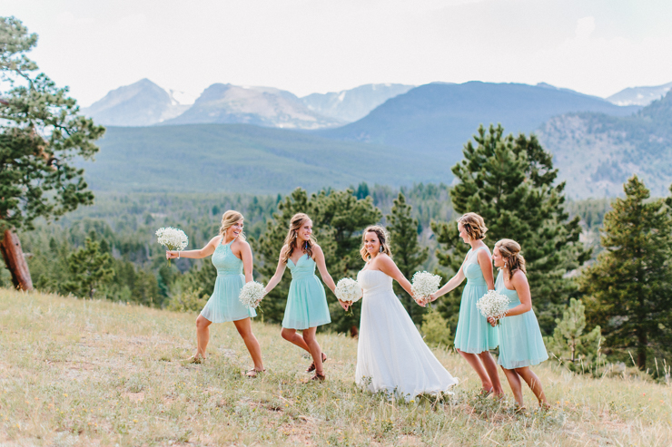 Rocky Mountain Bridesmaids in the mountains at YMCA of the Rockies, Overlook Chapel