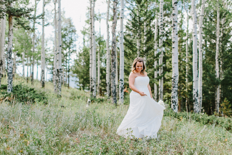 Bride photography in the mountains at YMCA of the Rockies, Overlook Chapel Colorado