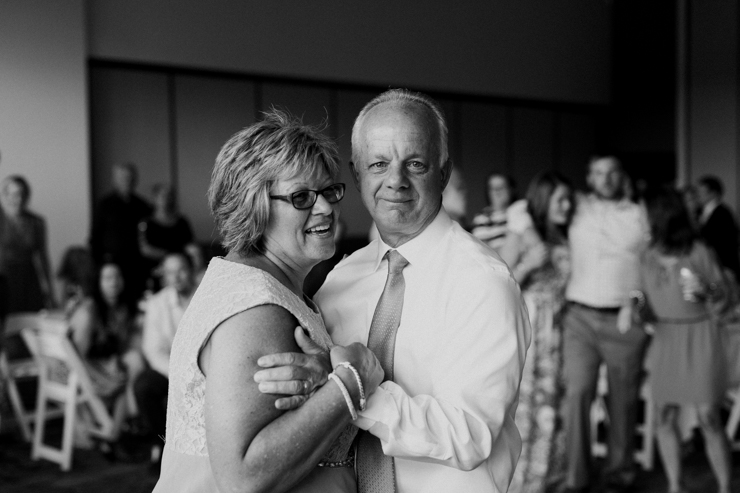 Parents' anniversary dance at their daughter's wedding reception at Estes Park Resort, Colorado