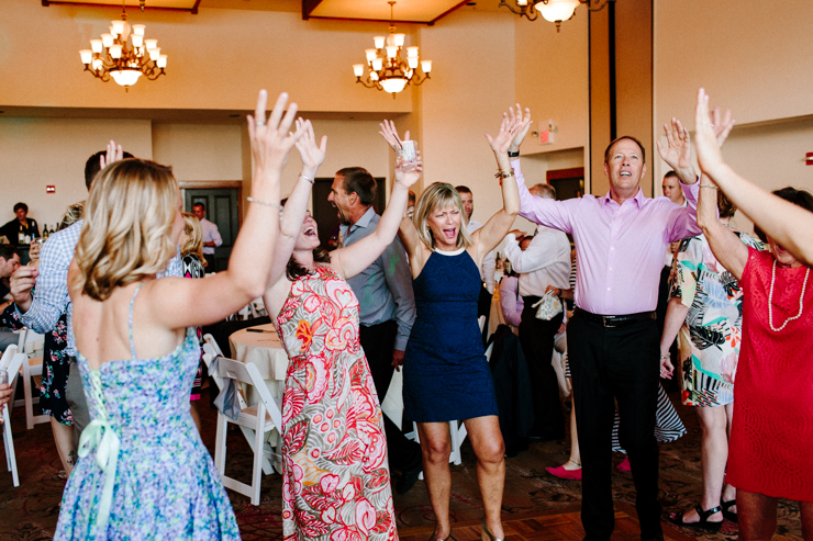 wedding reception dancing at Estes Park Resort, Colorado