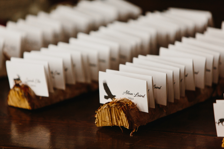 Wedding reception detail ideas at Pear Tree Estate in Champaign, Illinois
