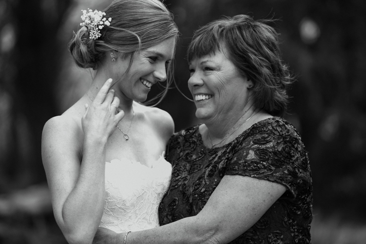 Bride with her mother Pear Tree Estate Champaign IL wedding