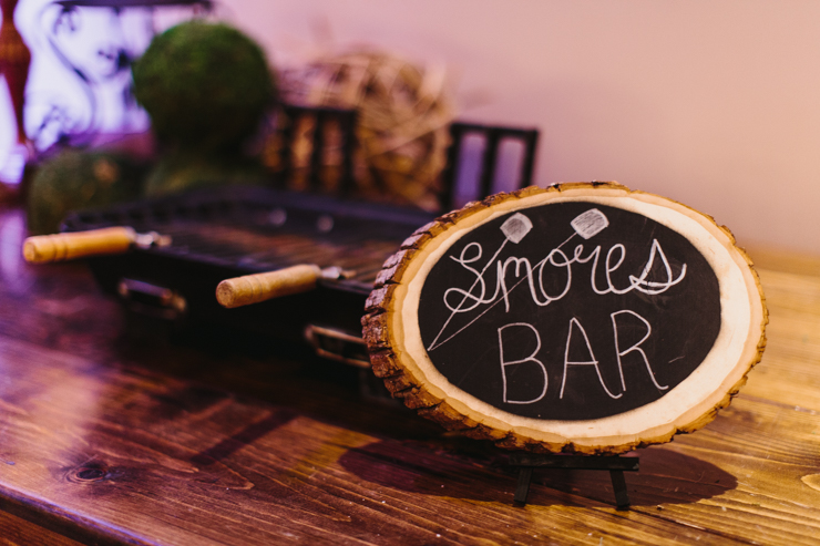 Smores Bar Desserts at Wedding Reception