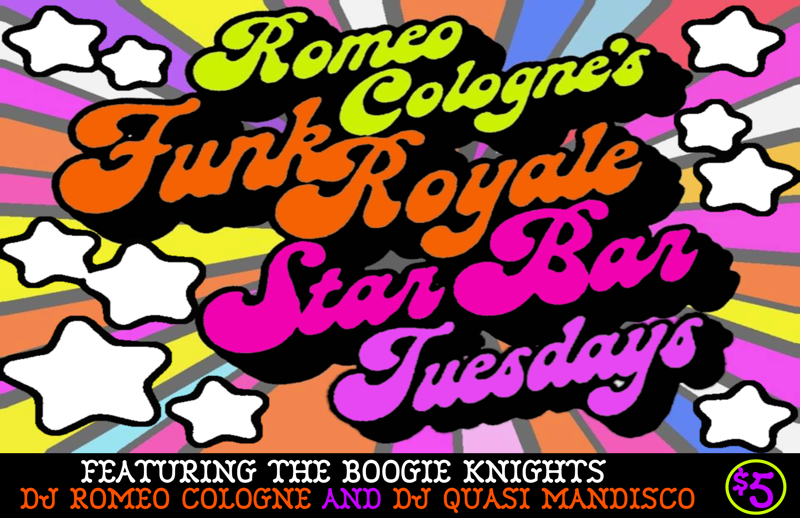 Romeo Cologne's Funk Royale featuring Quasi Mandisco — July 29, 2014 — The Star Community Bar, Atlanta, GA