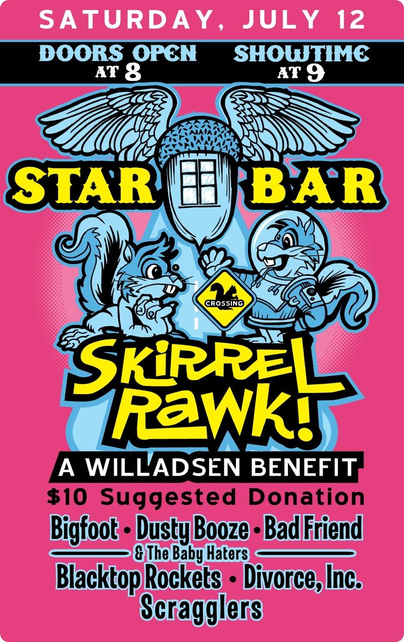 SKIRREL RAWK ★ A Willadsen Benefit — July 12, 2014 — The Star Community Bar, Atlanta, GA
