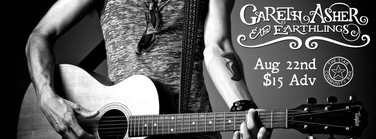 Gareth Asher & The Earthlings — August 22, 2014 — The Star Community Bar, Atlanta, GA