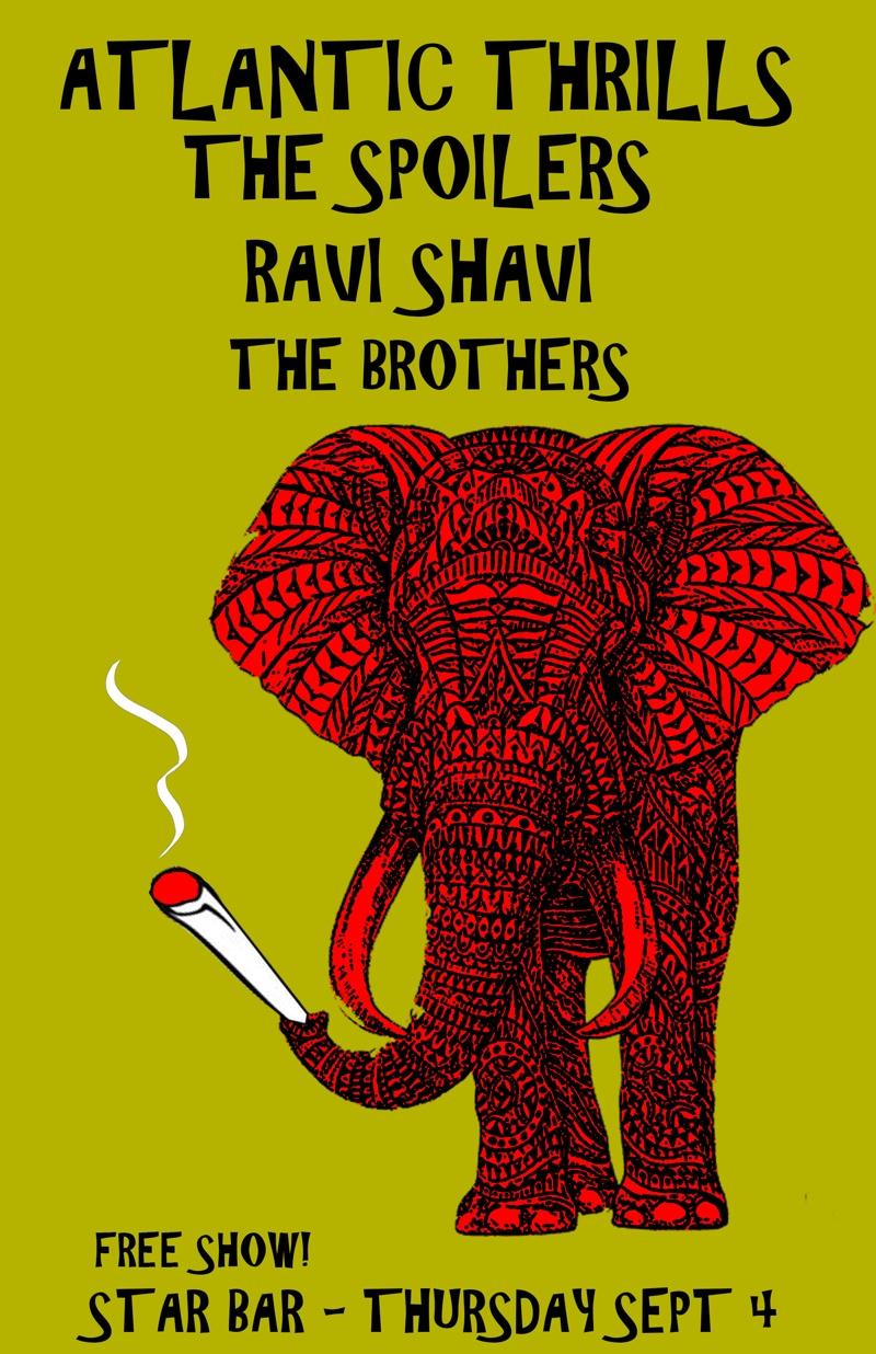 ATLANTIC THRILLS + THE SPOILERS + RAVI SHAVI + THE BROTHERS— September 4, 2014 — The Star Community Bar, Atlanta, GA