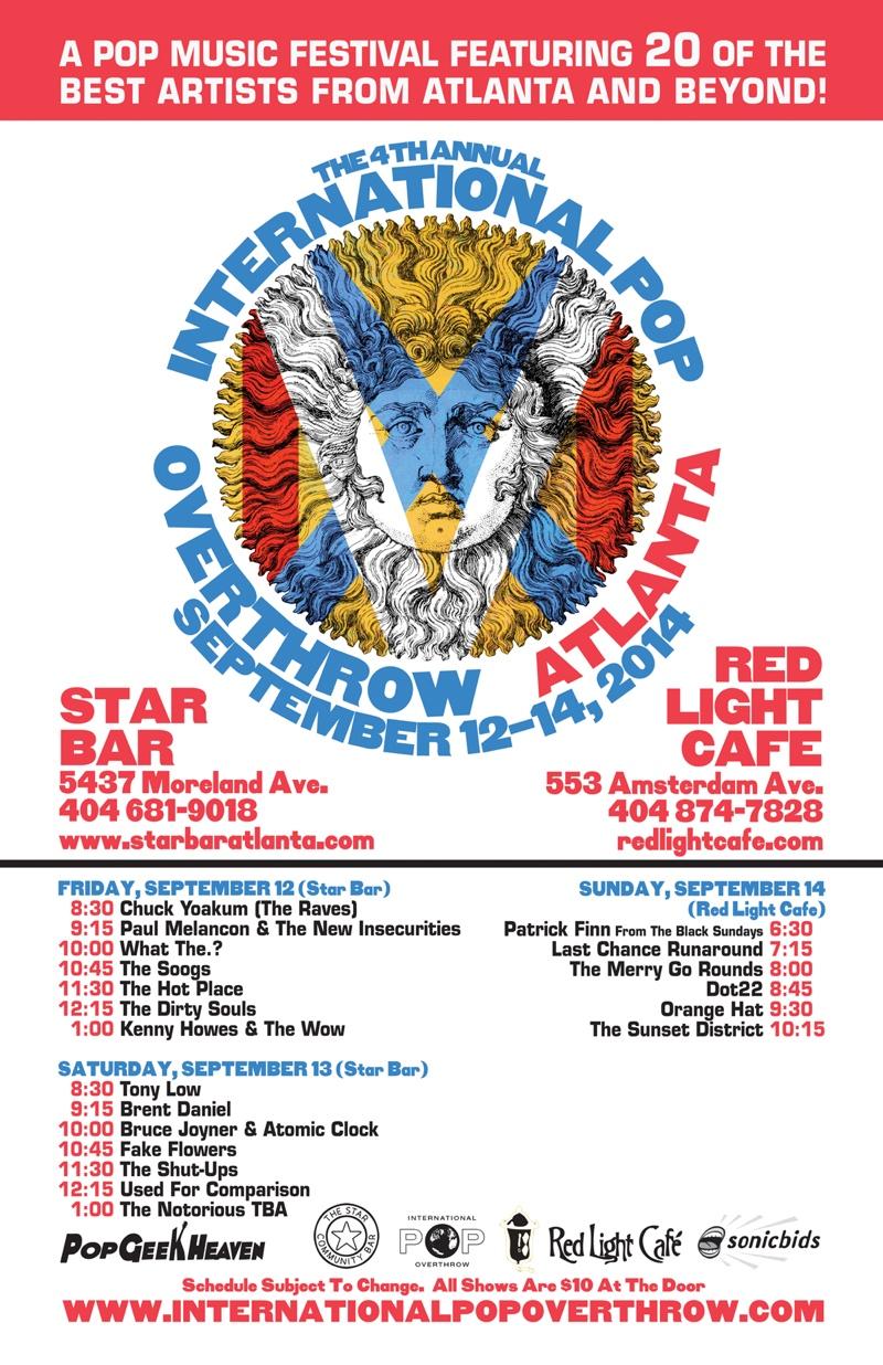 International Pop Overthrow Festival Atlanta: Day 1 — September 12, 2014 — The Star Community Bar, Atlanta, GA