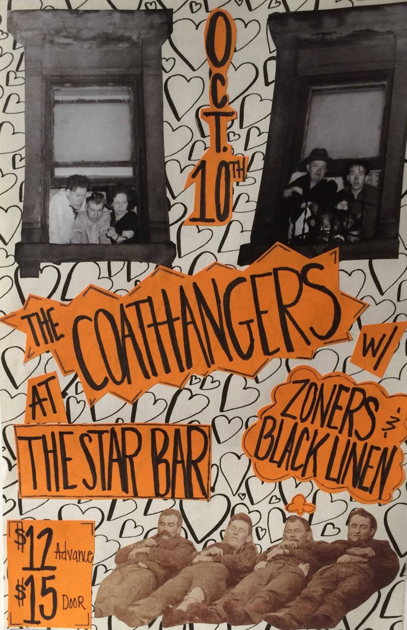 The Coathangers w/ Black Linen + Zoners — October 10, 2014 — The Star Community Bar, Atlanta, GA