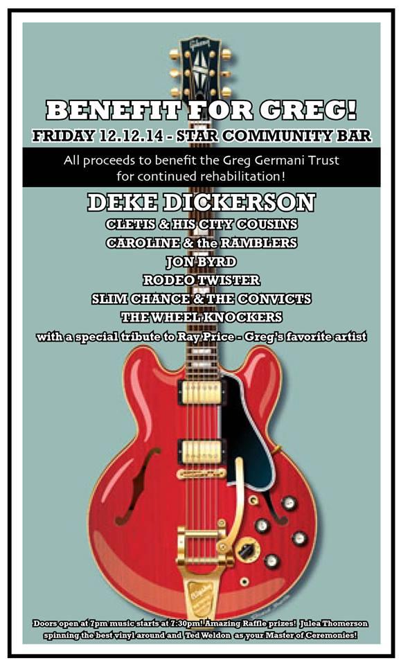 Greg Germani Benefit and Tribute to Ray Price — December 12, 2014 — The Star Community Bar, Atlanta, GA