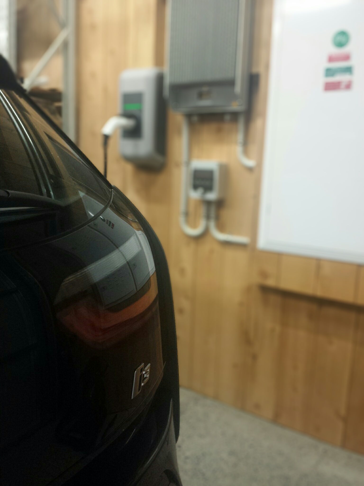 EV Charging at our first EV charger installation site.