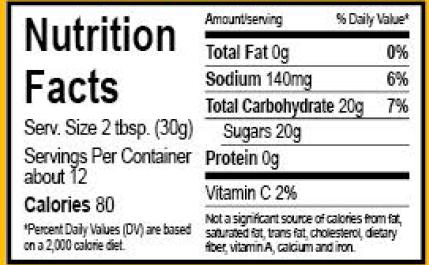 Jlees Regular Sauce Nutrition Facts