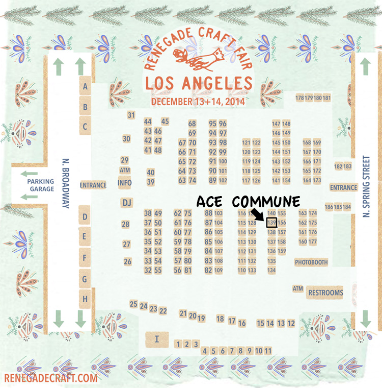 RENEGADE CRAFT FAIR Holiday Market : BOOTH : 139