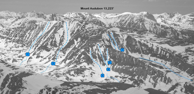 Mount Audubon from the southeast. Photo: Rob Writz