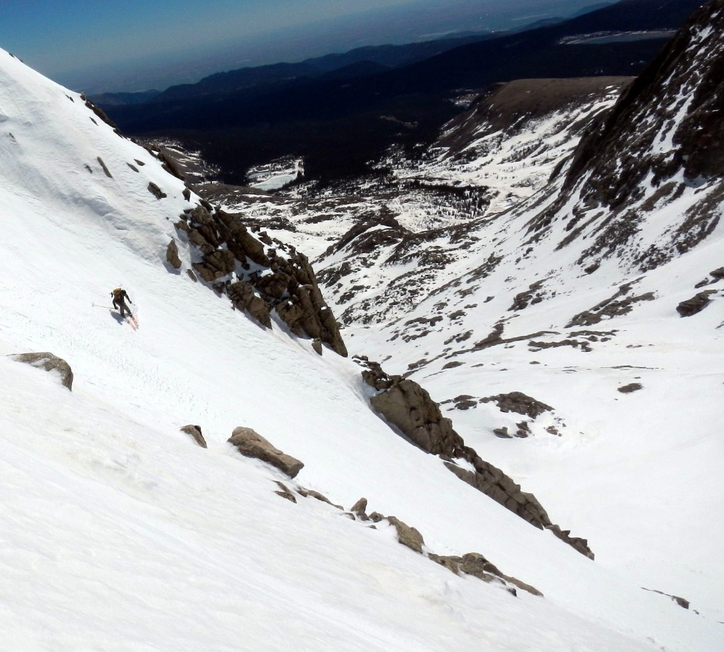 Skiing the Southeast Face of Mount Toll