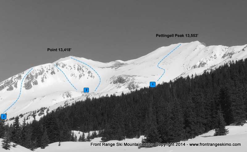 Pettingell Peak and 13,418 from Herman Gulch. Photo: Rob Writz