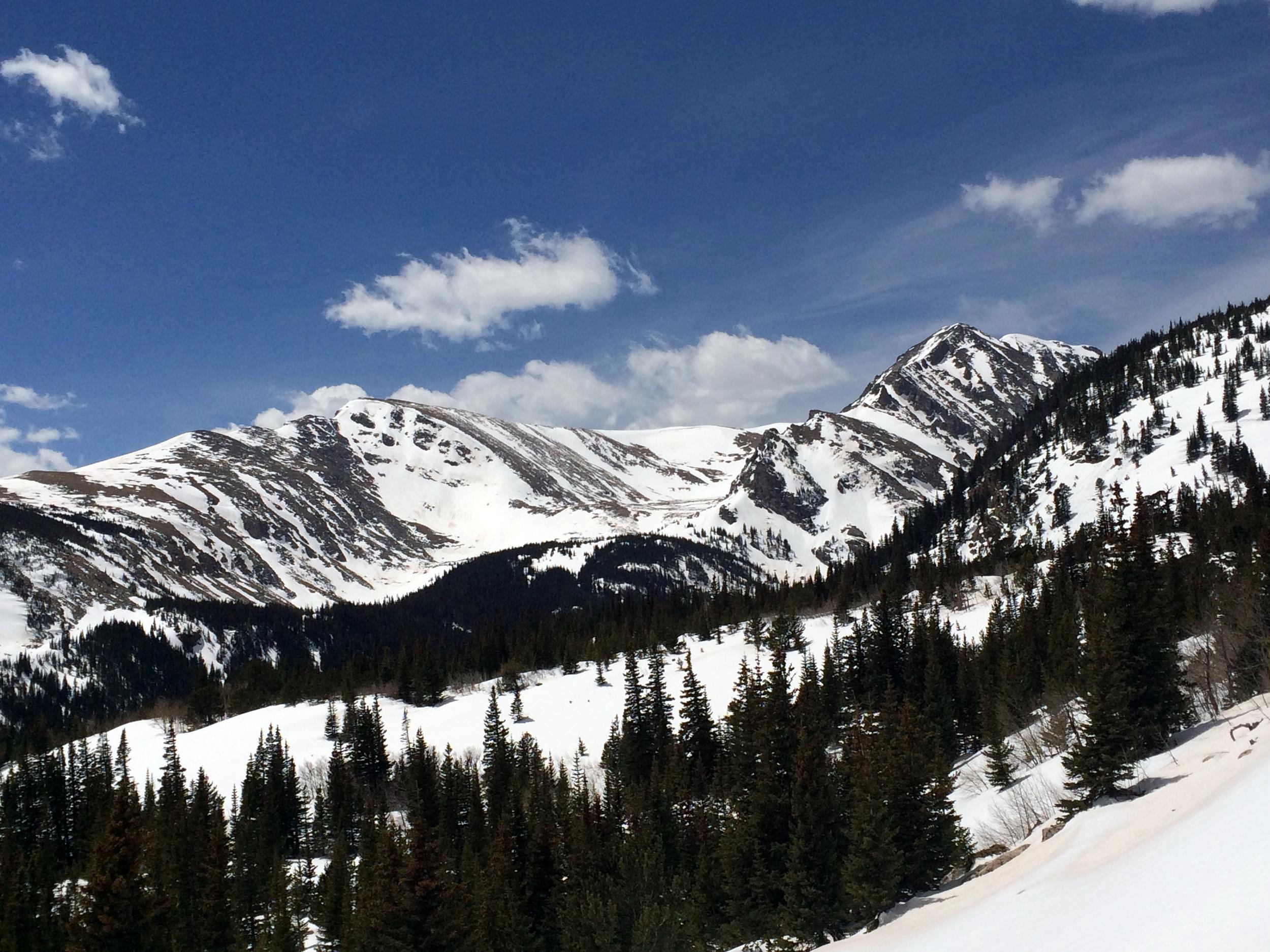 Witter Peak and Mount Eva's East Ridge from the Northeast.
