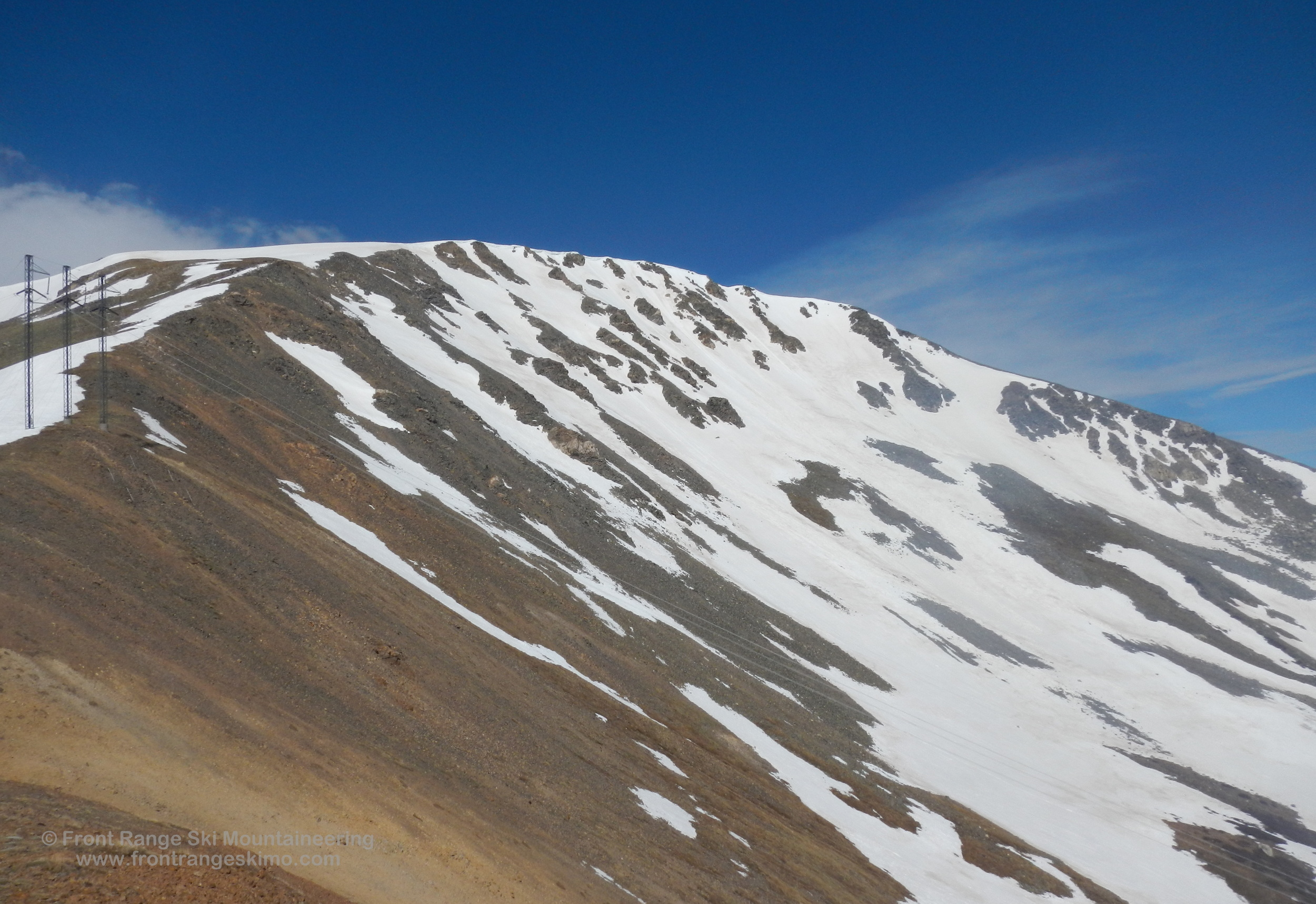 Argentine's Northeast Face from the Argentine-Wilcox saddle.