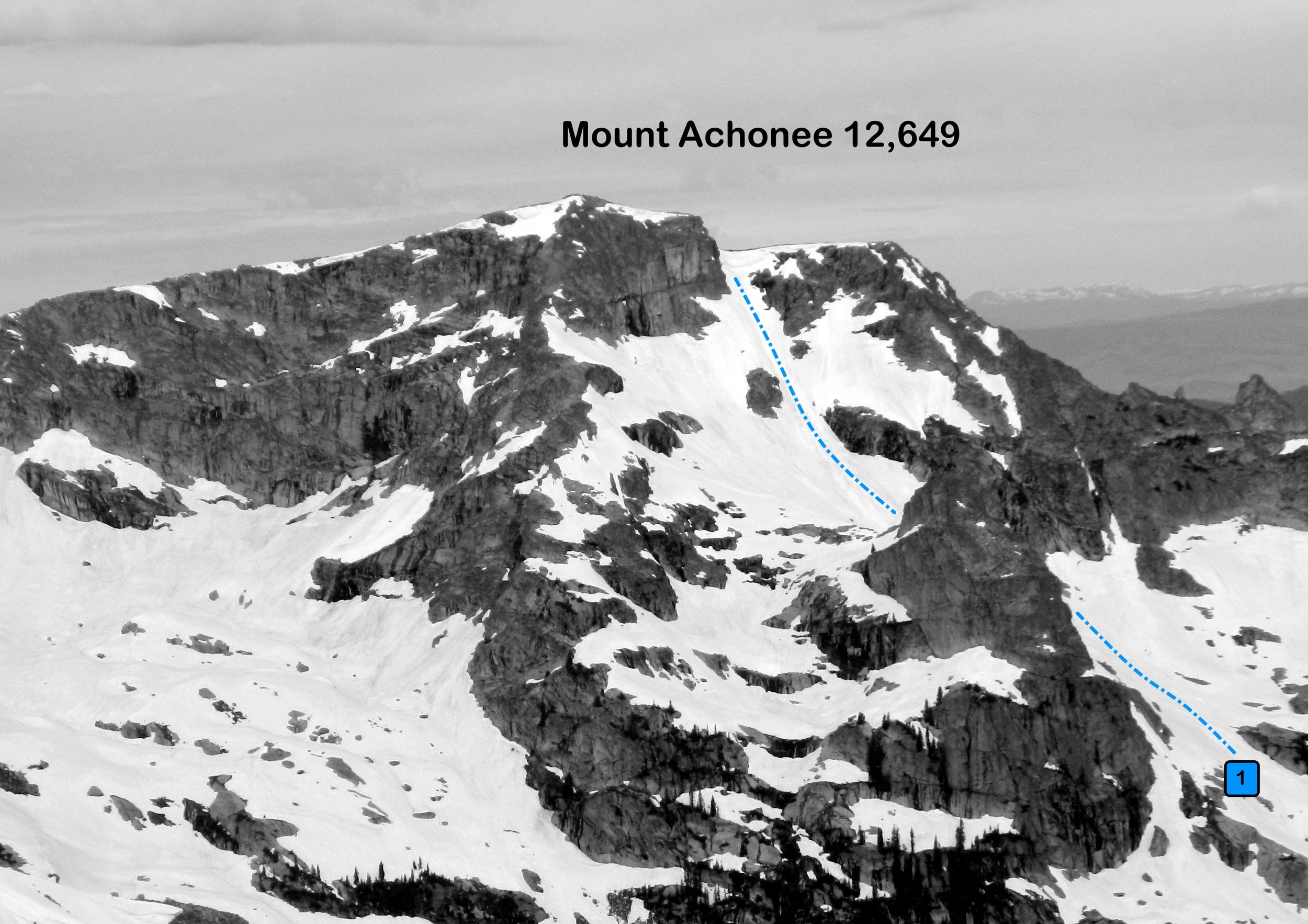 Mount Achonee from the northeast.  Photo: Rob Writz