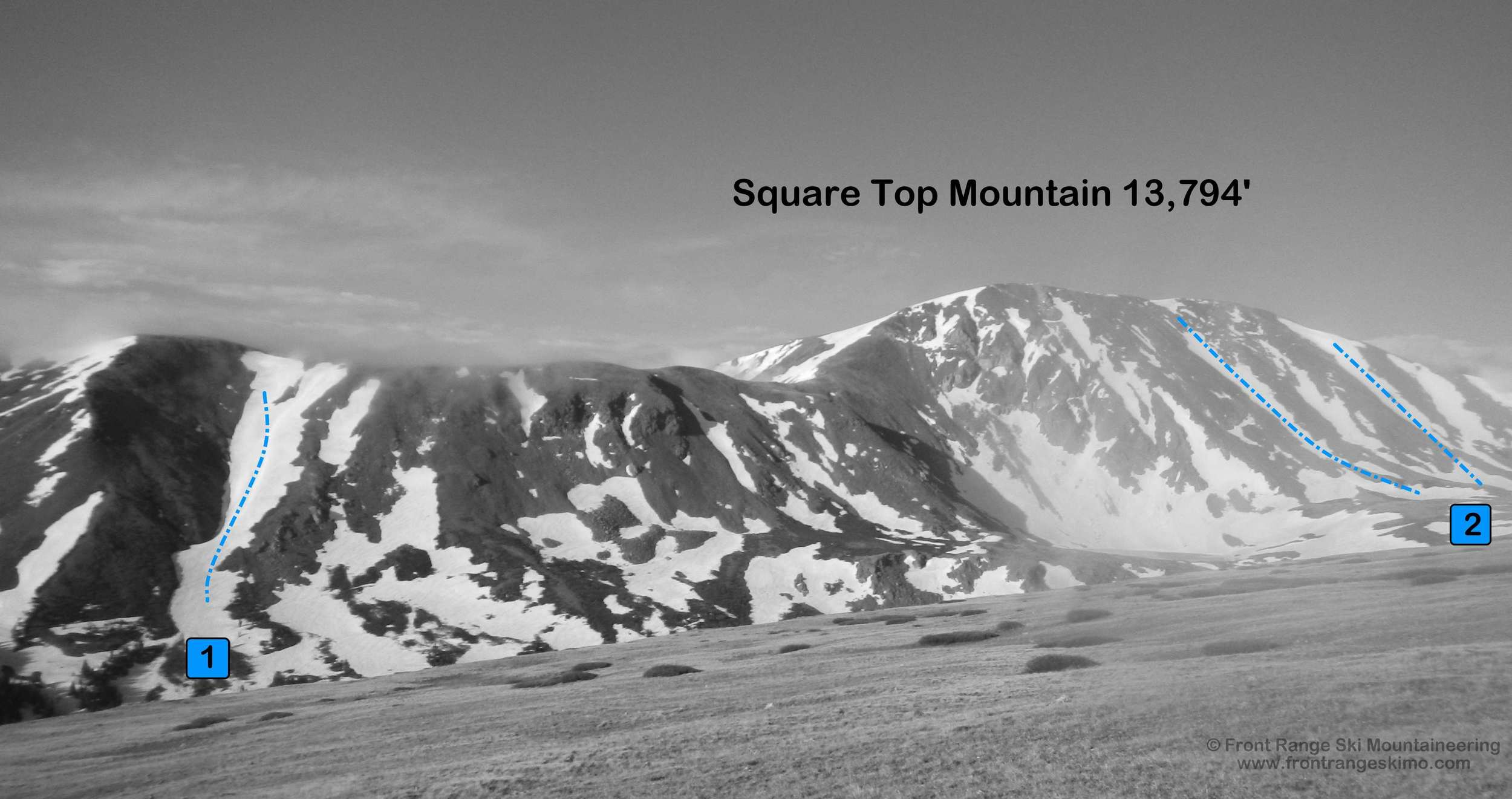 Square Top Mountain from the north. Photo: Rob Writz
