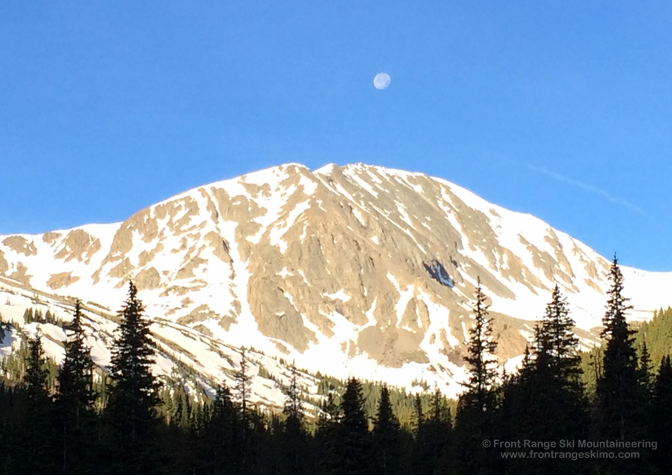 Moonset over the Grizzly Couloir.