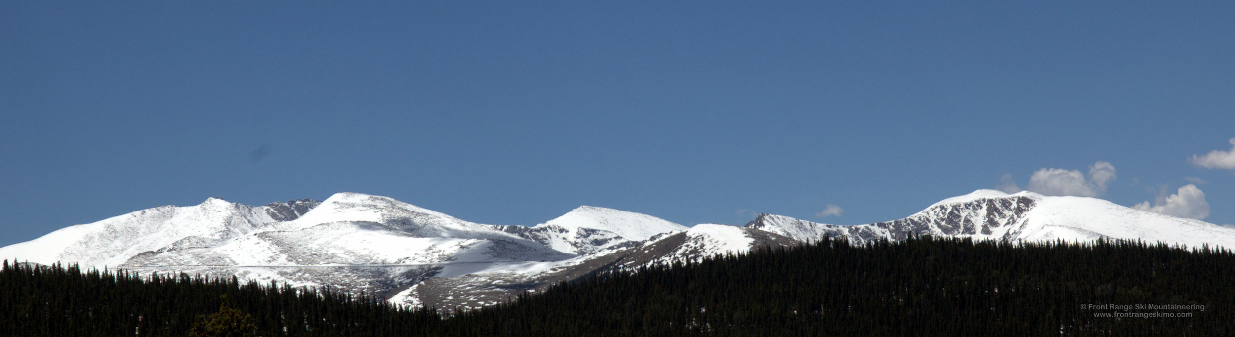 Mount Evans Massif from the north.
