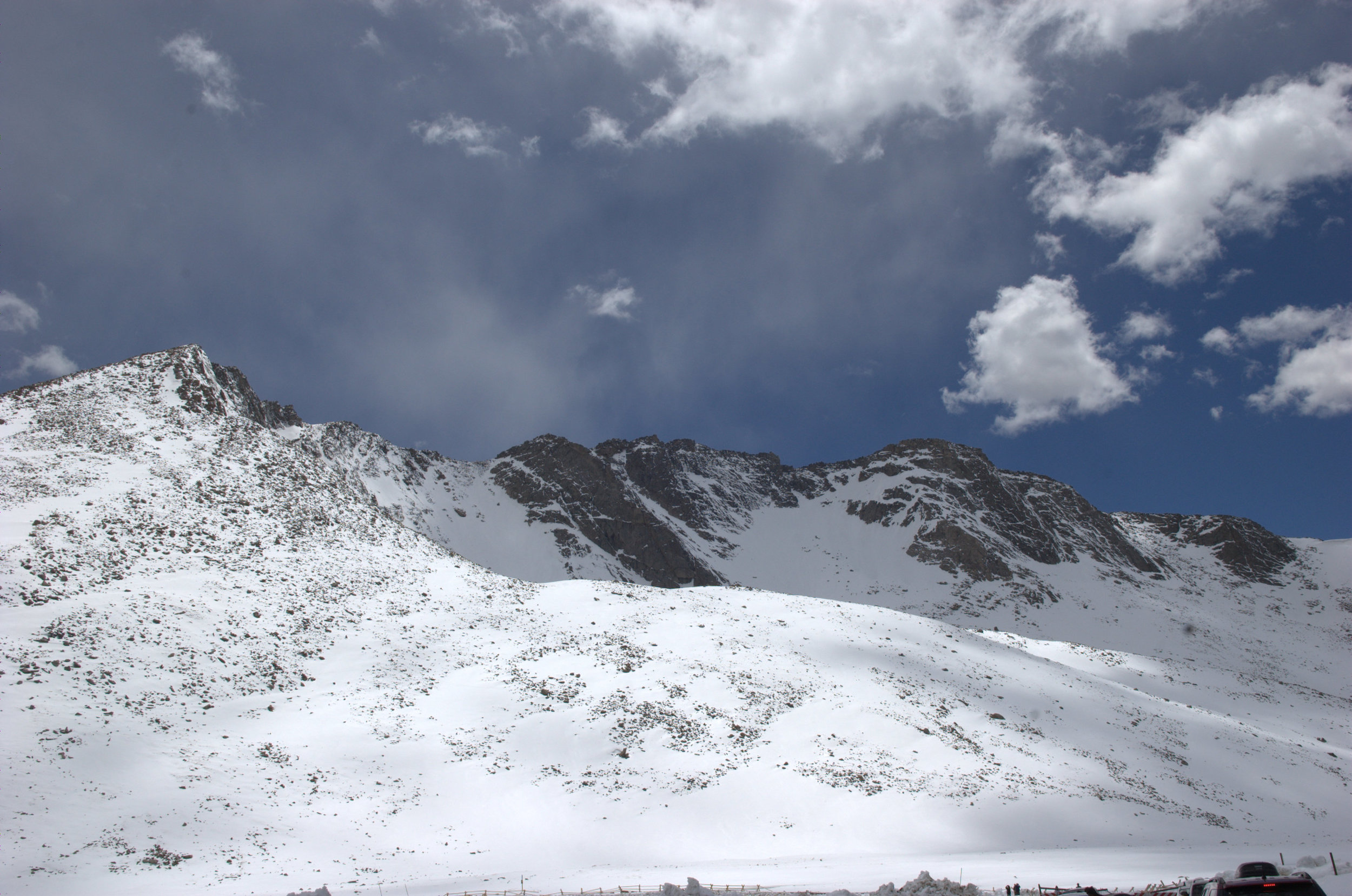 Mount Evans' North Face from near Summit Lake Trailhead.