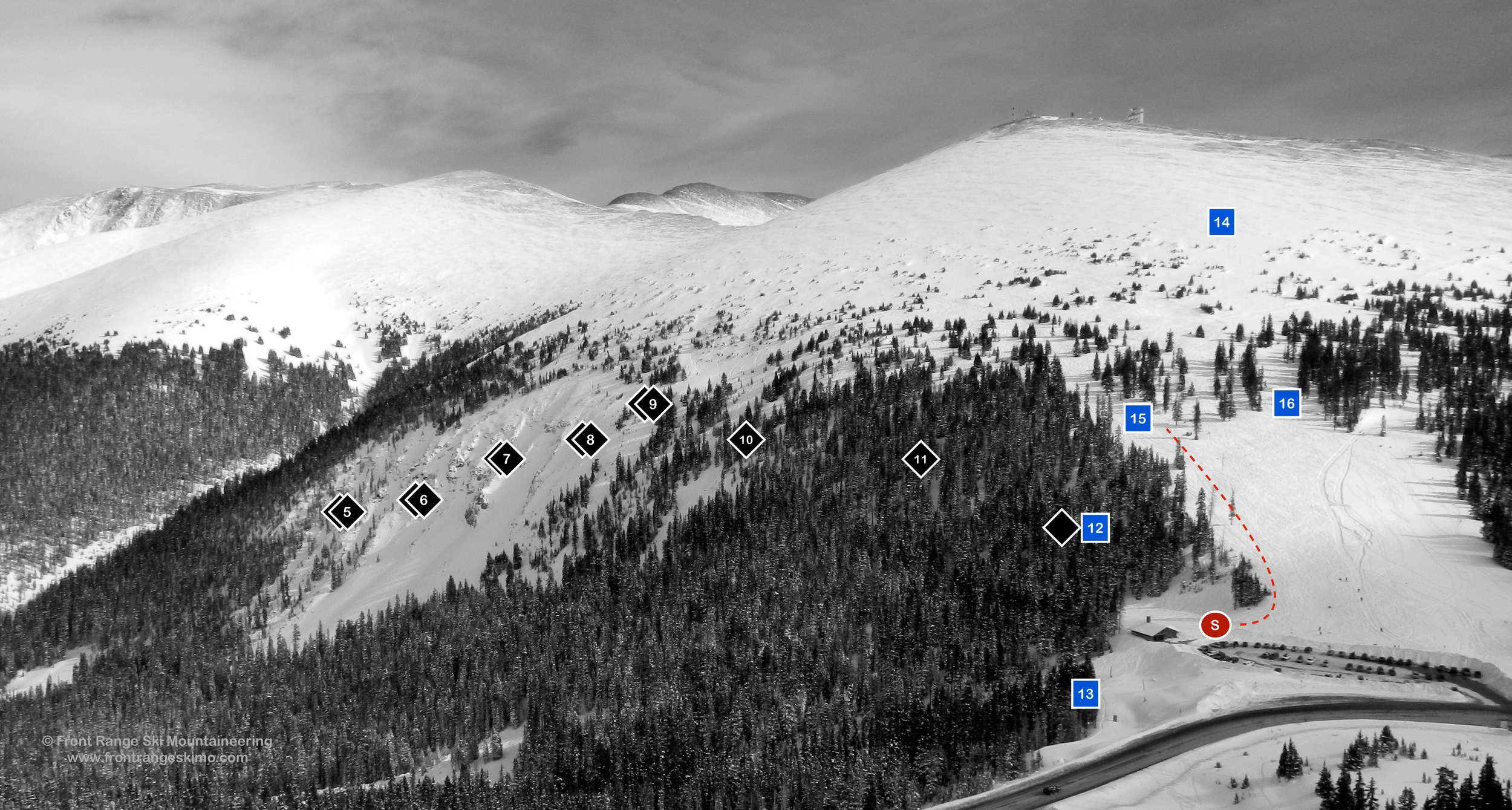 Berthoud Pass Hell's Half Acre & East Side from the West.