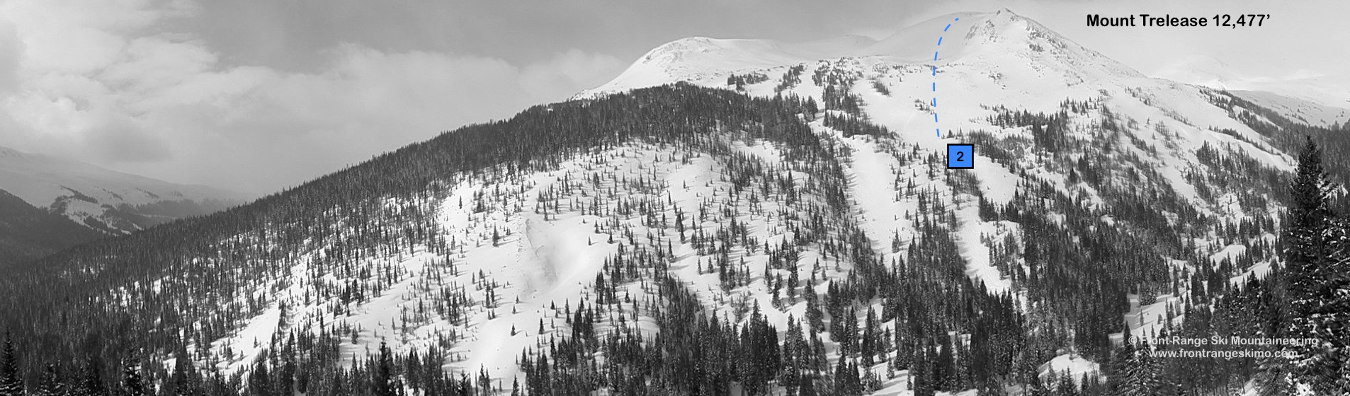 Mount Trelease from the North. Photo: Rob Writz