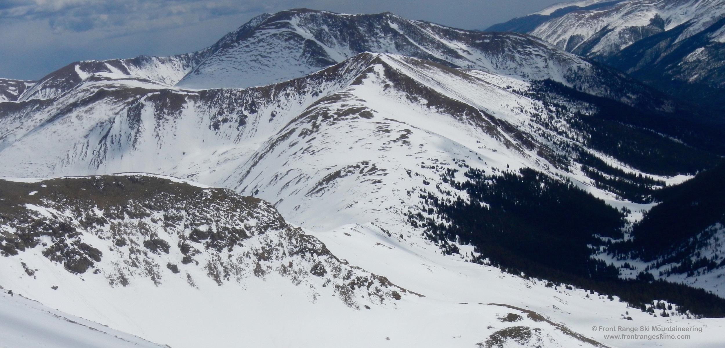 Mount Machebeuf from Pettingell Peak's Southeast Face.