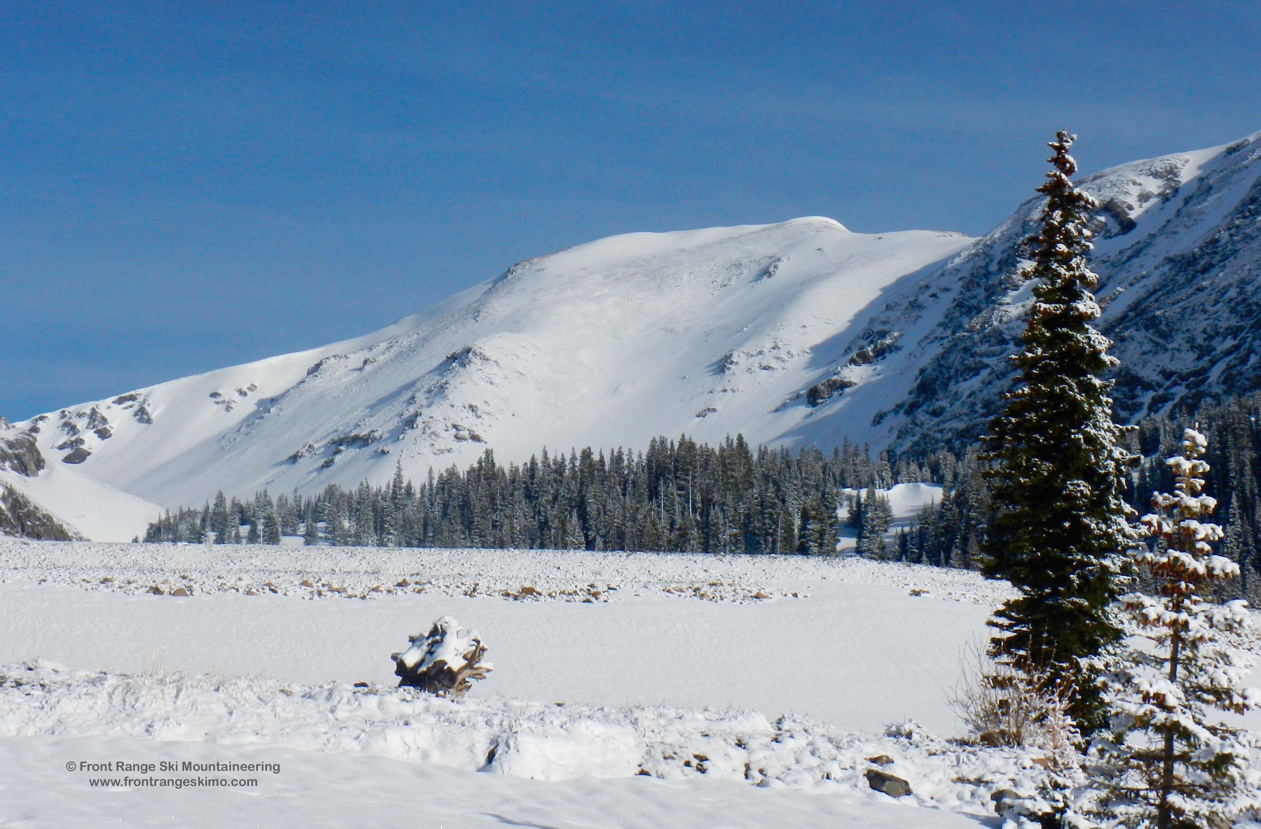 Parry Peak's Southeast Slope from Fall River Reservoir.