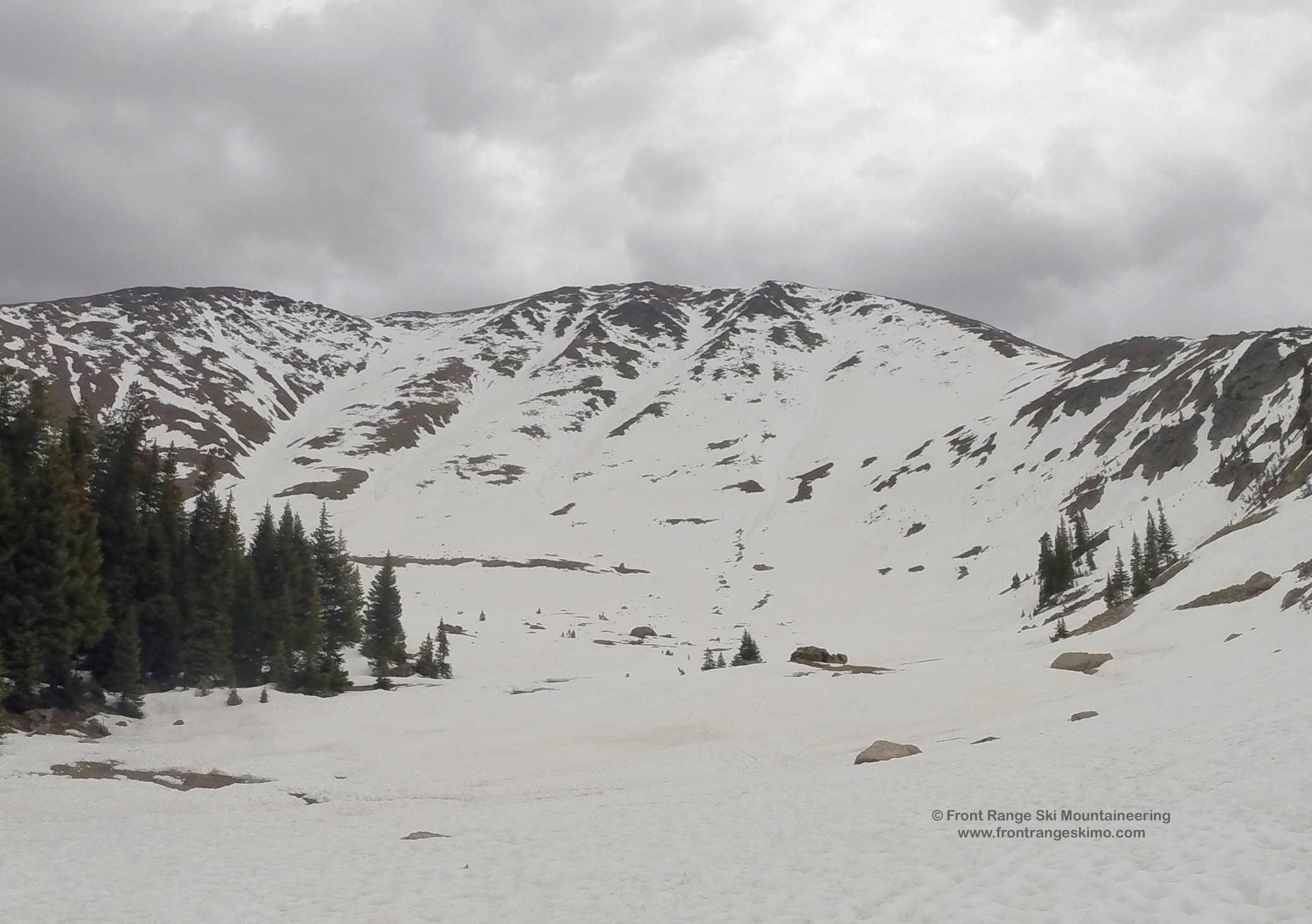 Parry Peak's Bear Claw from the Northwest.
