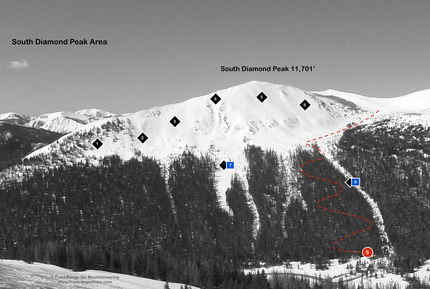South Diamond Peak from the East. Photo: Rob Writz