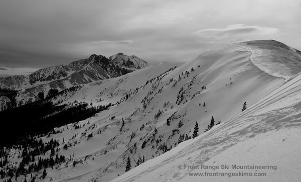 The Northeast Bowl of Point 11,588' as seen from the top of Montgomery Bowl.